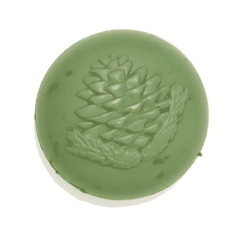 Seife mit Schafmilch und Zirbe - grün - Ovis 110 g