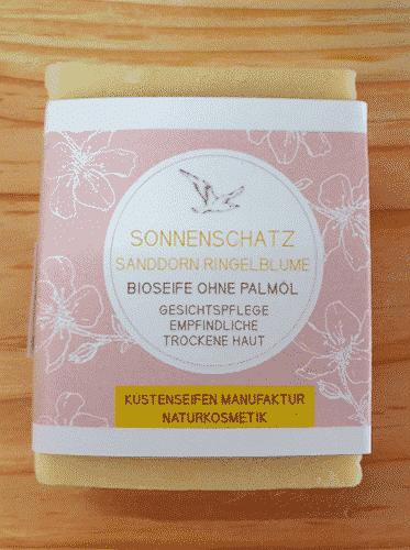 Bio Seife Sonnenschatz mit Ringelblume & Sanddorn - Küstenseife 80 g