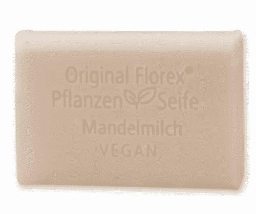 Vegane Seife mit Mandelmilch - Pflanzenölseife - Florex 100 g