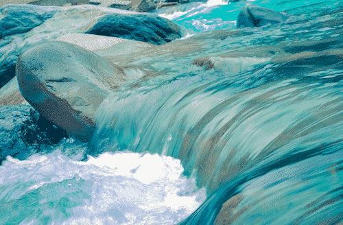 Trommelstein zur Wasserbelebung - Fluorit - Bild 2