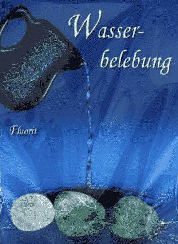 Trommelstein zur Wasserbelebung - Fluorit