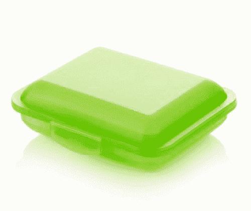 Klickbox für Seifen - Grün - Ovis 11 x 9 x 3,5 cm