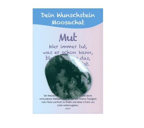 Dein Wunschstein Moosachat - Mut
