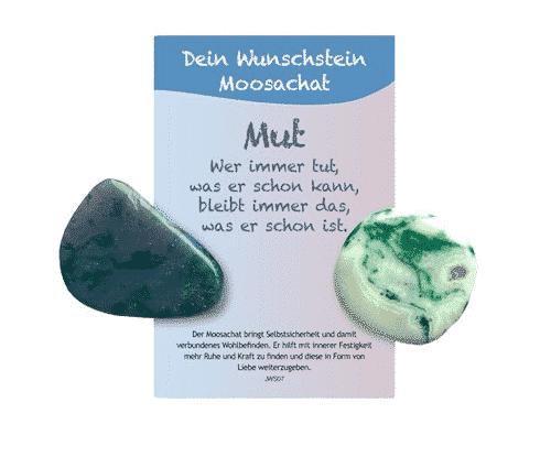 Dein Wunschstein Moosachat - Mut - Bild 2