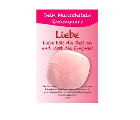 Dein Wunschstein Rosenquarz - Liebe