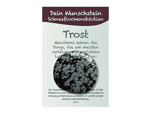 Dein Wunschstein Schneeflockenobsidian - Trost