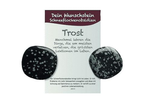 Dein Wunschstein Schneeflockenobsidian - Trost - Bild 2