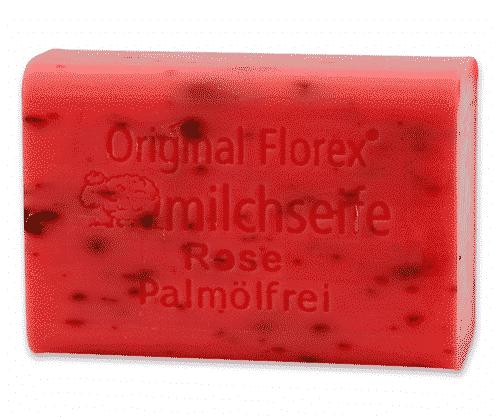 Seife mit bio Schafmilch und Rose - Palmölfrei - Florex 100 g