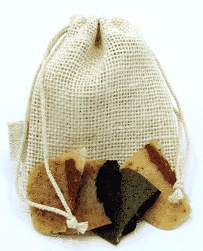 Jute - Beutel für Seifenreste - 13 x 11cm