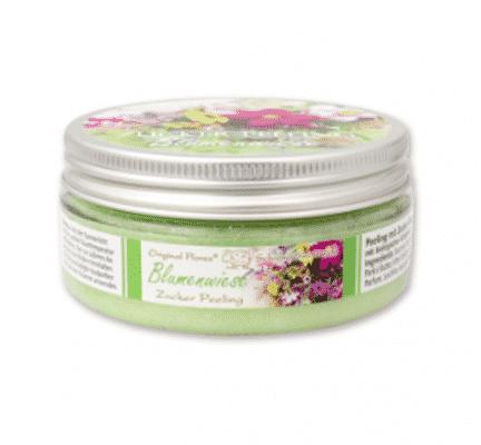 Peeling mit Zucker und biologischer Schafmilch - Blumenwiese - Florex 200 ml