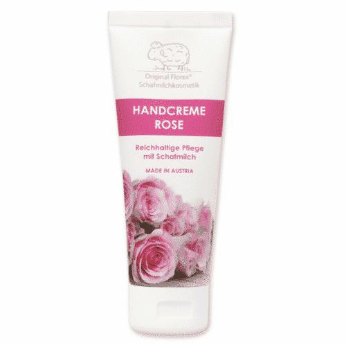 Handcreme mit bio Schafmilch und Rose - Florex 75 ml