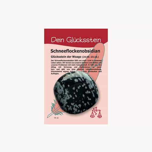 Edelstein Schneeflockenobsidian für Sternzeichen Waage - Dein Glücksstein