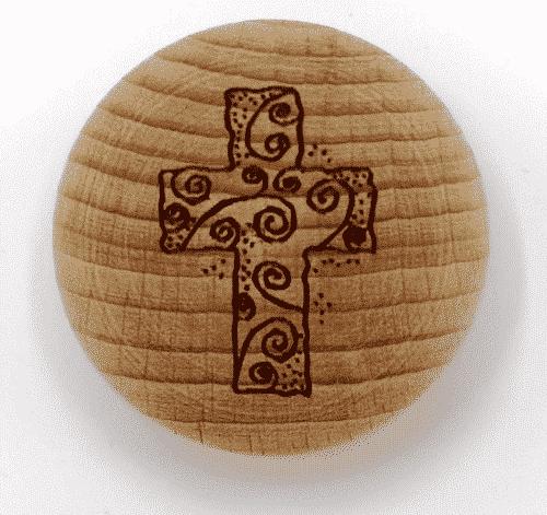 Handschmeichler Kreuz - unverpackt - Baumstark Initiative - Holz
