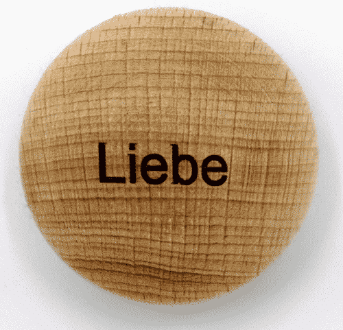 Handschmeichler Liebe - unverpackt - Baumstark Initiative - Geschenke aus Holz