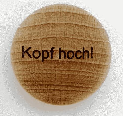 Handschmeichler Kopf hoch - unverpackt - Baumstark Initiative - Geschenk aus Holz