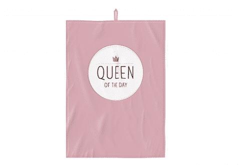 Geschirrtuch - Queen of the Day - 100% Baumwolle - 50 x 70 cm - Geschenkidee aus der Küche