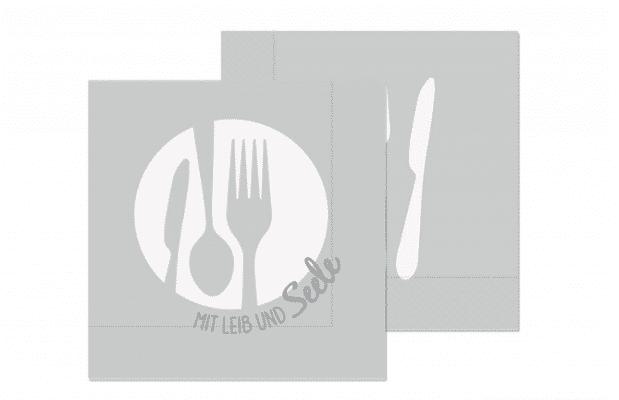 Geschirrtuch - mit Leib & Seele - 100% Baumwolle - 50 x 70 cm - Handtuch aus der Küche