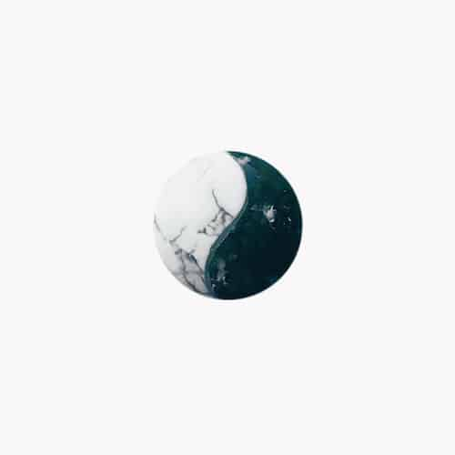 Anhänger aus Moosachat für Sternzeichen Steinbock - Edelstein Yin Yang