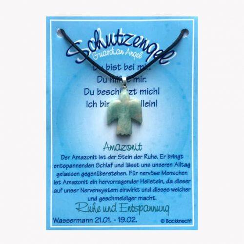 Schutzengel für Sternzeichen Wassermann - Edelstein Amazonit