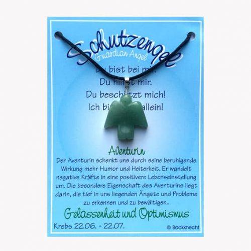 Schutzengel für Sternzeichen Krebs - Edelstein Aventurin