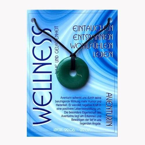 Donut aus Aventurin für Sternzeichen Krebs - Edelsteinanhänger - 1