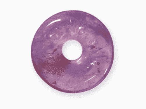 Donut aus Amethyst für Sternzeichen Fische - Edelsteinanhänger - Glücksstein Amethyst