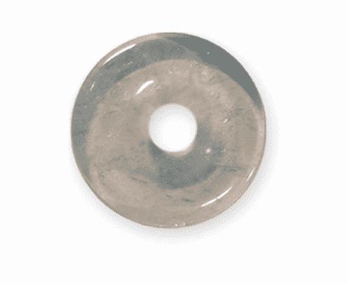 Donut aus Bergkristall für Sternzeichen Löwe - Edelsteinanhänger