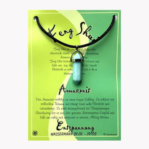 Amazonit für Sternzeichen Wassermann - FengShui Edelsteinanhänger