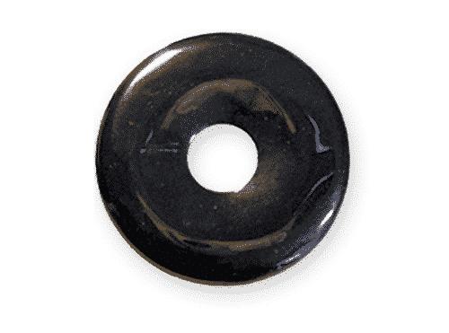 Donut aus Hämatit für Sternzeichen Skorpion - Edelsteinanhänger
