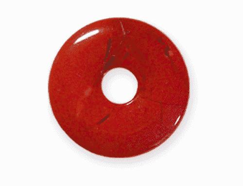 Donut aus Jaspis rot für Sternzeichen Widder - Edelsteinanhänger