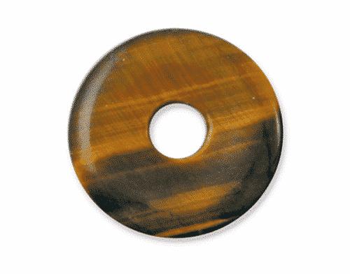 Donut aus Tigerauge für Sternzeichen Zwillinge - Edelsteinanhänger