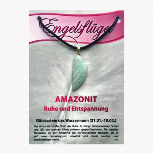 Amazonit für Sternzeichen Wassermann - Engelsflügel aus Edelstein