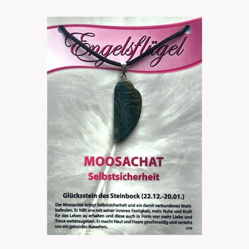 Moosachat für Sternzeichen Steinbock - Engelsflügel aus Edelstein