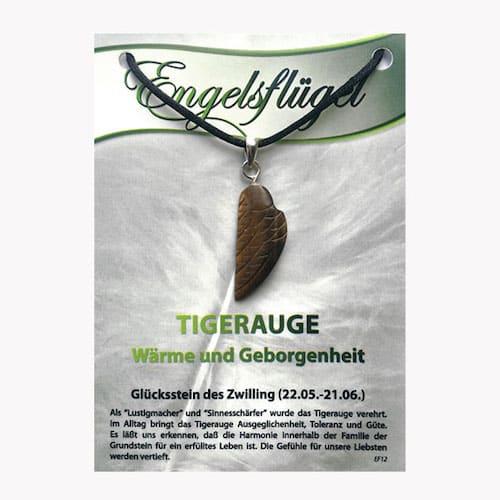 Tigerauge für Sternzeichen Zwillinge - Engelsflügel aus Edelstein