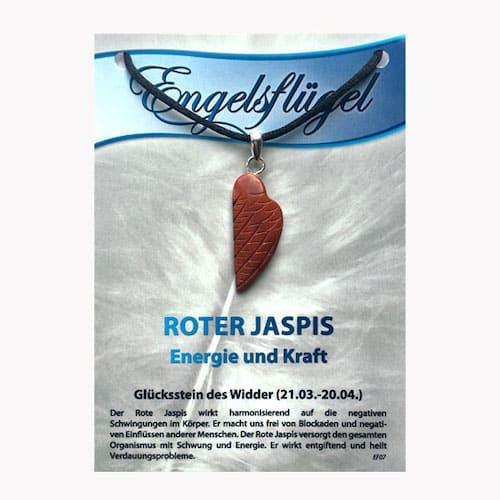 Jaspis rot für Sternzeichen Widder - Engelsflügel aus Edelstein