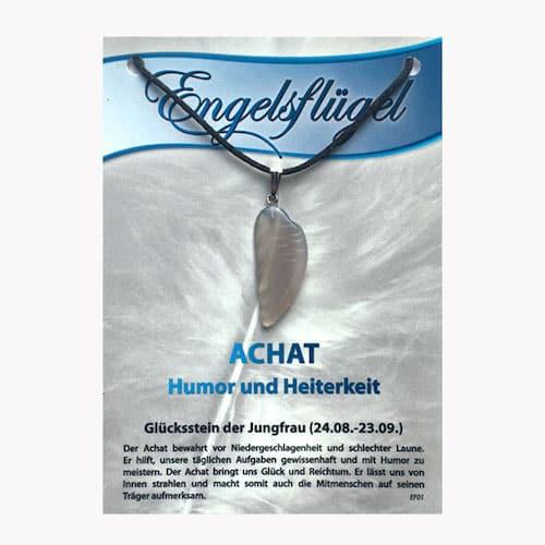 Achat für Sternzeichen Jungfrau - Engelsflügel aus Edelstein