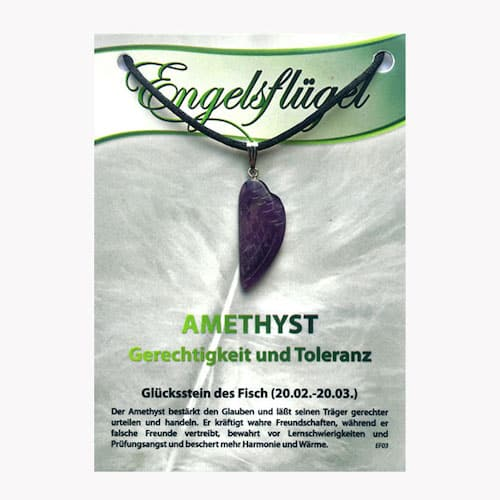 Amethyst für Sternzeichen Fische - Engelsflügel aus Edelstein