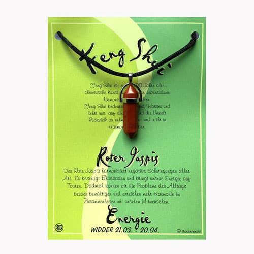 Jaspis rot für Sternzeichen Widder - FengShui Edelsteinanhänger