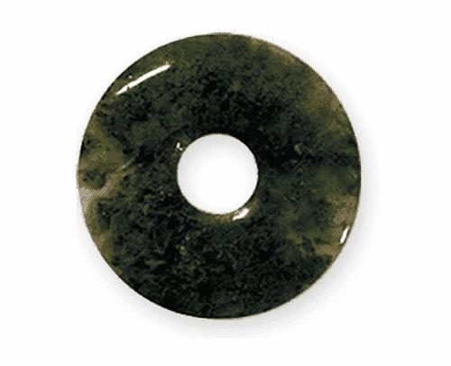Donut aus Moosachat für Sternzeichen Steinbock - Edelsteinanhänger