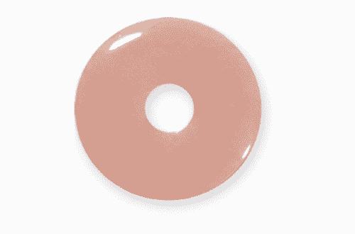 Donut aus Rosenquarz für Sternzeichen Stier - Edelsteinanhänger