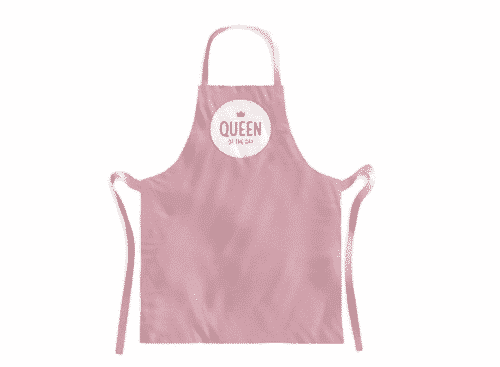Schürze Queen of the Day - Kochschürze aus 100% Baumwolle