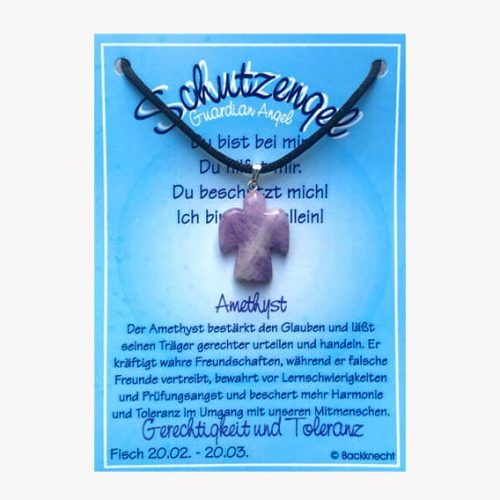 Schutzengel für Sternzeichen Fisch - Edelstein Amethyst