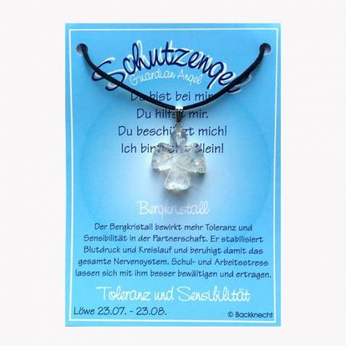 Schutzengel für Sternzeichen Löwe - Edelstein Bergkristall