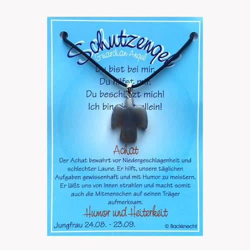 Schutzengel für Sternzeichen Jungfrau - Edelstein Achat