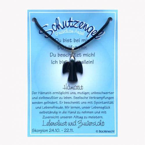 Schutzengel für Sternzeichen Skorpion - Edelstein Hämatit
