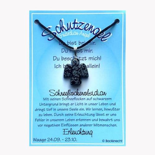 Schutzengel für Sternzeichen Waage - Edelstein Schneeflockenobsidian