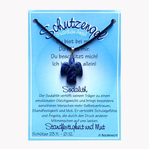 Schutzengel für Sternzeichen Schütze - Edelstein Sodalith