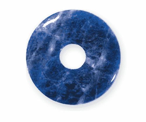 Donut aus Sodalith für Sternzeichen Schütze - Edelsteinanhänger