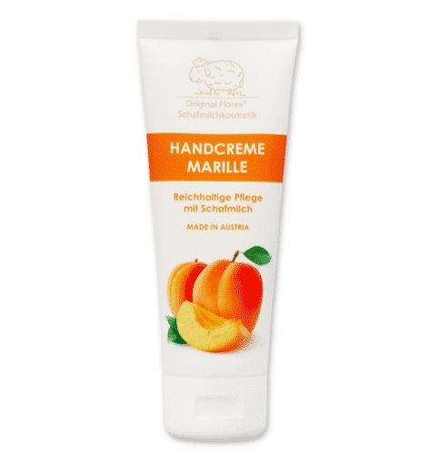 Handcreme mit bio Schafmilch und Aprikose - Marille - Florex 75 ml