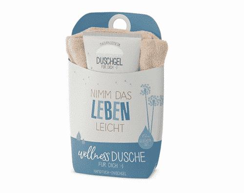 "Wellnessdusche Set ""Nimm Leben"" - Duschgel & Handtuch - La Vida"